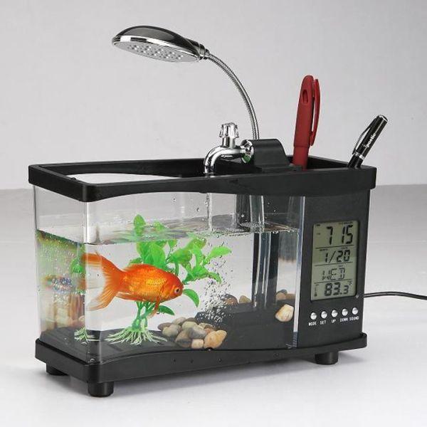 Hồ cá mini để bàn cực đẹp có màn hình Lcd cực xịn hàng cao cấp, Bể cá để bàn đa năng phong thủy cực tốt, trang trí bàn cực đẹp