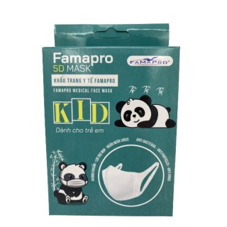 [HCM]Bảo vệ bé yêu - Khẩu trang y tế trẻ em kháng khuẩn 3 lớp Famapro 5D Mask kid quai vải thumbnail