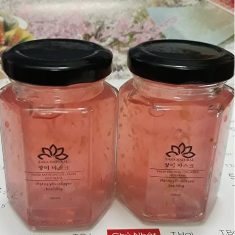 Mặt nạ ngủ tổ yến tươi Collagen - hoa hồng nhập khẩu