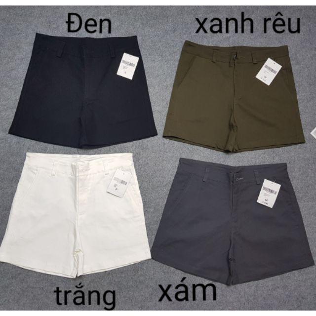 Quần Short Kaki Lưng Cao Đủ Size 26,27,28,29,30,31,32,33,34
