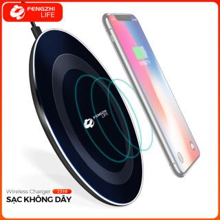 Sạc không dây FENGZHI J318 chuẩn sạc QI 10W tùy chỉnh chế độ sạc tự động nhận dạng thiết bị tự ngắt khi pin đầy an toàn tiện lợi cho iPhone Samsung OPPO Vivo HUAWEI XIAOMi Sạc nhanh điện thoại thumbnail