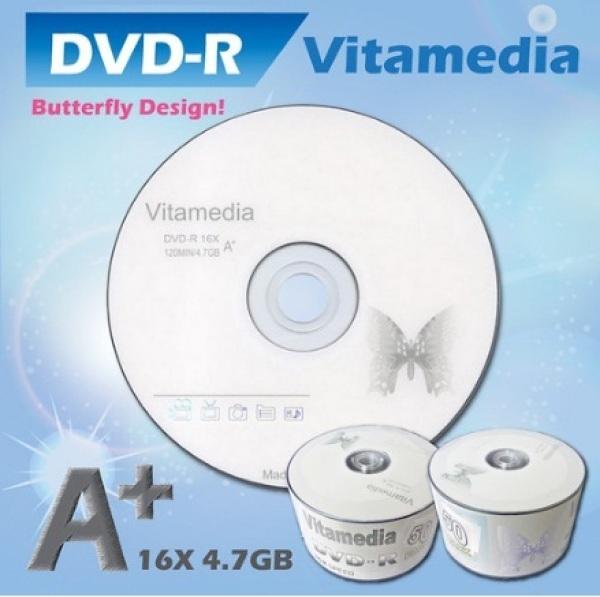 Bảng giá Đĩa trắng DVD Vitamedia 4.7G Lốc 50 full box Phong Vũ