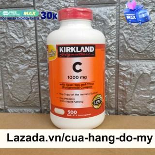 Viên uống Vitamin C 1000mg Kirkland Hộp 500 Viên - Tăng sức đề kháng thumbnail