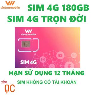 Sim 4G trọn đời vnmb 180GB có hạn sử dụng 12 tháng không có tài khoản thumbnail