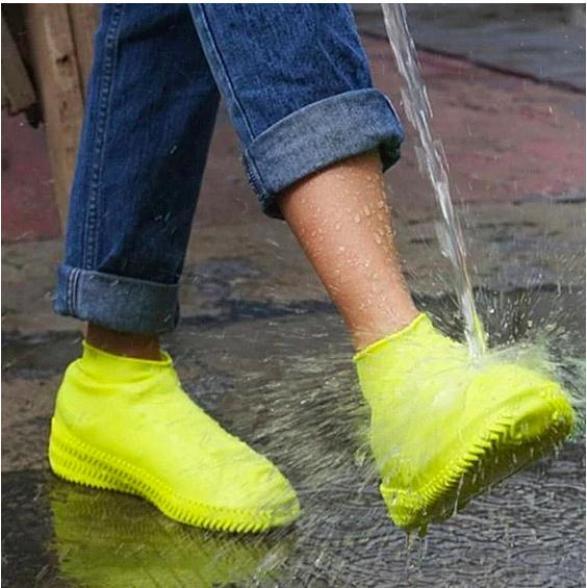 Bọc giày đi mưa Silicon co giãn cao cấp, gọn nhẹ chống trơn trượt- 3 màu ( Đen, Trắng, xanh dương ) giá rẻ