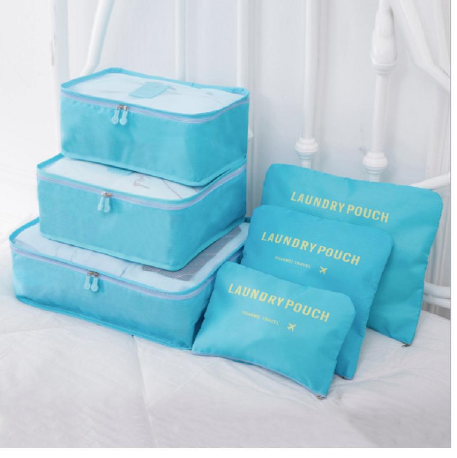 Combo 6 Túi Đựng Đồ Du Lịch Xếp đồ Gọn Gàng Trong Vali Chống Thấm Bag In Bag GD40-6Tvali Siêu Khuyến Mại