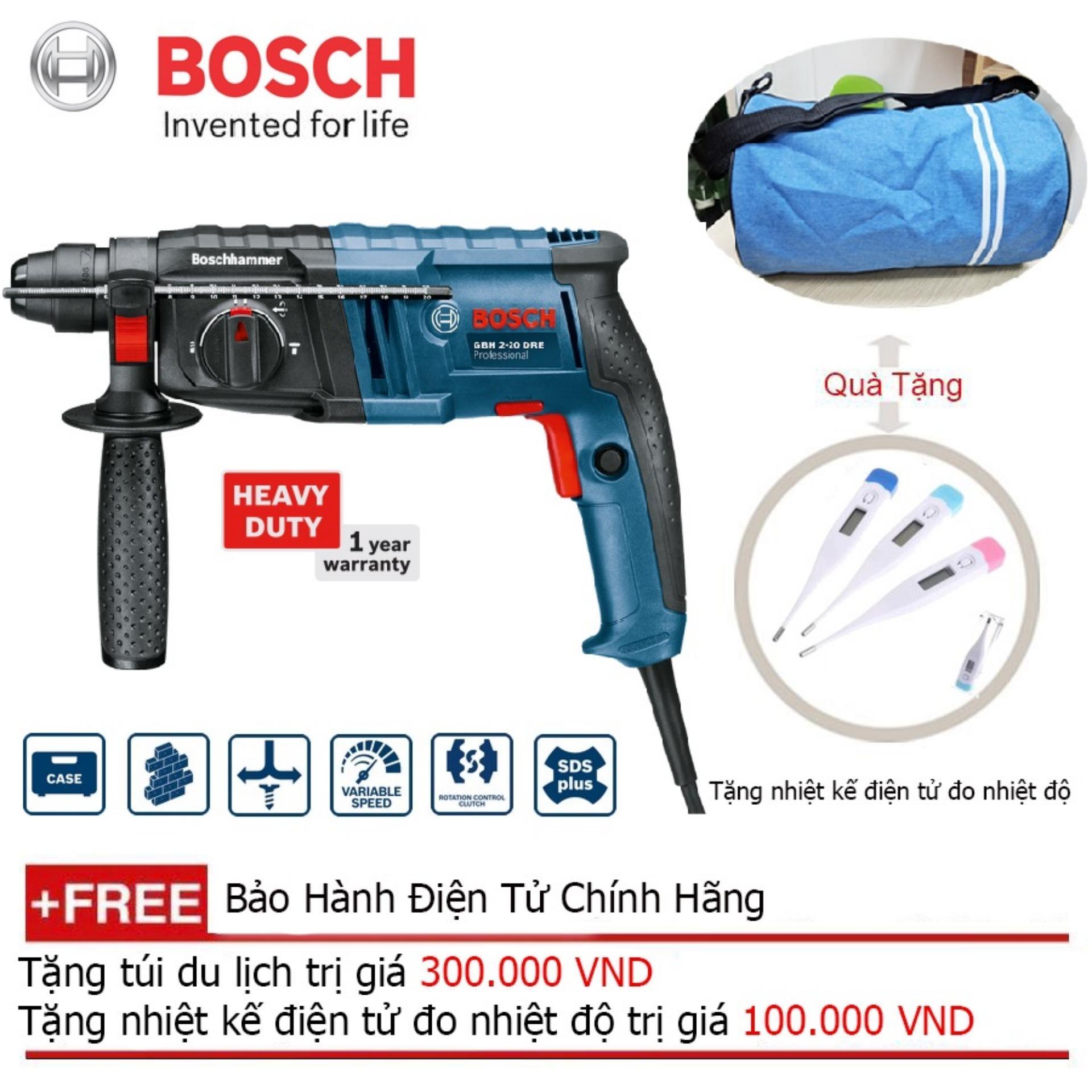 Máy khoan búa Bosch GBH 2-20 DRE + Quà tặng balo du lịch