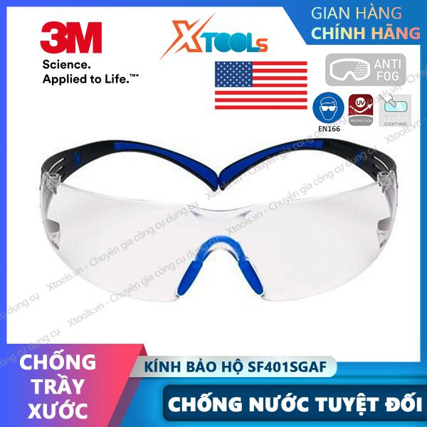 Giá bán Kính bảo hộ 3M SF401SGAF kính chống bụi, chống hơi nước trầy xước vượt trội, ngăn chặn tia UV, mắt kính lao động, xe máy [XTOOLs][XSAFE]