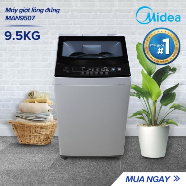 Bảng giá Máy Giặt Midea MAN-9507 9.5Kg Lồng Đứng - Mâm Giặt Water Magic Cube Tăng Khả Năng Làm Sạch - Nắp Kính Cường Lực Cao Cấp - Nhiều Chu Trình Giặt Chỉ Với Một Nút Ấn - Hàng Chính Hãng Bảo Hành 2 Năm Điện máy Pico