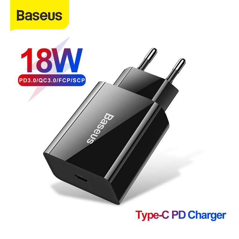 Giá Baseus 18W PD 3.0 Sạc Nhanh Sạc USB Cho iPhone 11 Pro XS Max XR Bộ Sạc Điện Thoại Nhỏ Sạc Nhanh 3.0 SCP Fcp Cho Huawei P30 Pro Xiaomi