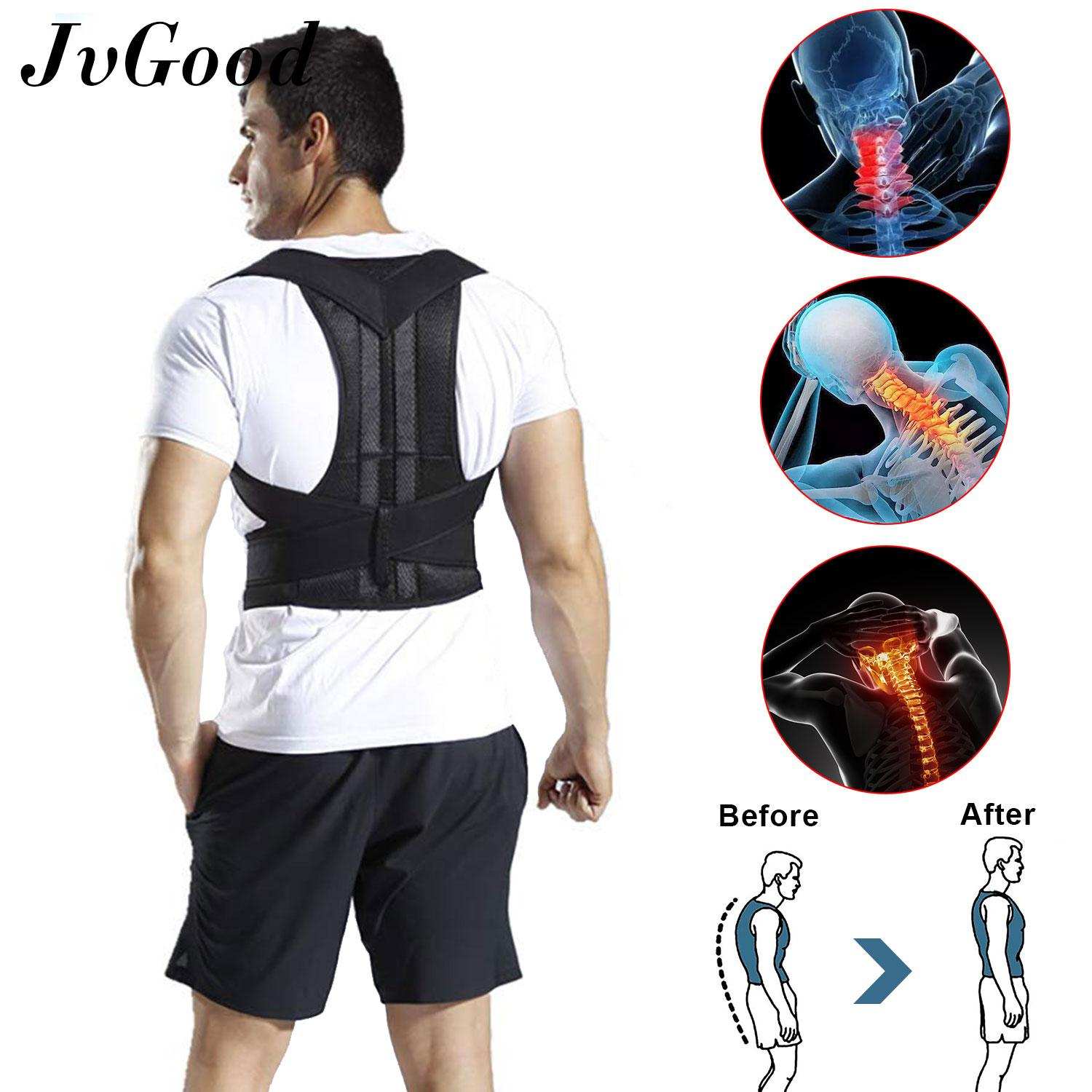 Jvgood รั้งสนับสนุนท่าทาง Posture Support Brace Back Support Belt Back Shoulder Lumbar Humpback Corrector Belt Therapy Adjustable Shoulder Back Brace Belt Strap For Children Teenagers Adults By Jvgood.
