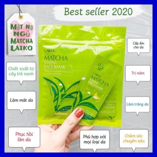 [COMBO 2 BỊCH] gồm 30 gói mặt nạ ngủ trà xanh LAIKOU dưỡng ẩm và chống lão hóa mặt nạ dưỡng da mặt nạ ngủ matcha mặt nạ nội địa Trung thumbnail