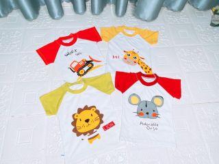 combo 5 áo thun mẫu thú bé yêu thumbnail