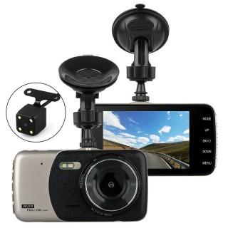 [ Tặng thẻ 0GB-32GB ] Camera hành trình ô tô trước sau Full HD 1080P mẫu mới, ống kính kép siêu bền thumbnail