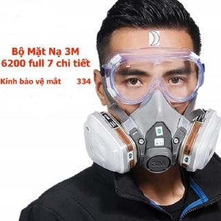 Mặt nạ phòng độc 3M6200, mặt nạ chống độc, mặt nạ phun sơn, khẩu trang phòng độc, khói bụi thumbnail