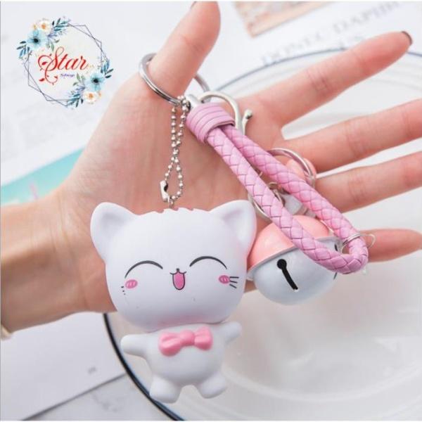 Móc khóa hình mèo xinh xắn dễ thương A02