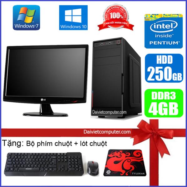 Bộ Case máy tính để bàn CPU Dual core E7-8xxx / Core i3-2100 / Ram 4GB / HDD 250GB-500GB / SSD 120GB-240GB + Màn hình + [QÙA TẶNG: Bộ phím chuột không dây, bàn di chuột] VPI32 + M - LDV