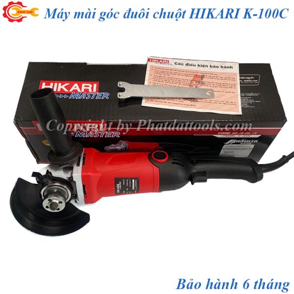 Máy mài góc Thái HIKARI K-100C-Công suất 980W-Dạng đuôi chuột cầm tay nhỏ gọn