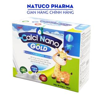Canxi cho bé Calci Nano Gold giúp phát triển xương, tăng chiều cao, giảm còi xương cho trẻ từ 2 tuổi - bổ sung canxi, taurin, vitamin - Hộp 20 ống chuẩn GMP thumbnail