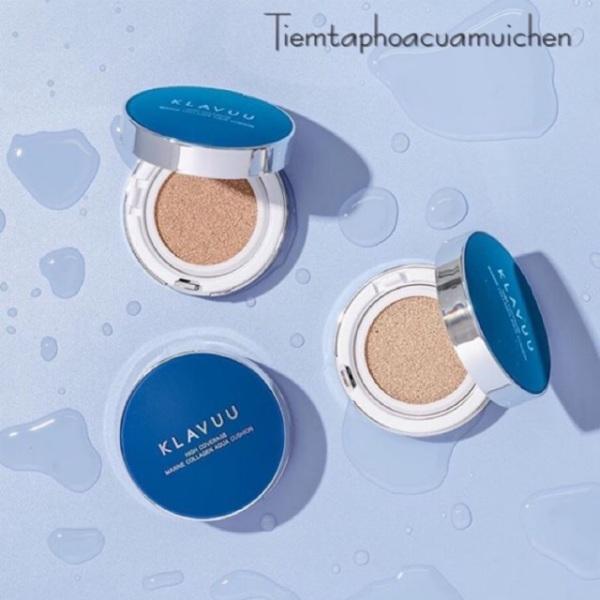 Phấn Nước Cấp Ẩm Che Phủ Cao Klavuu Blue Pearlsation High Coverage Marine Aqua Cushion SPF 50 giá rẻ