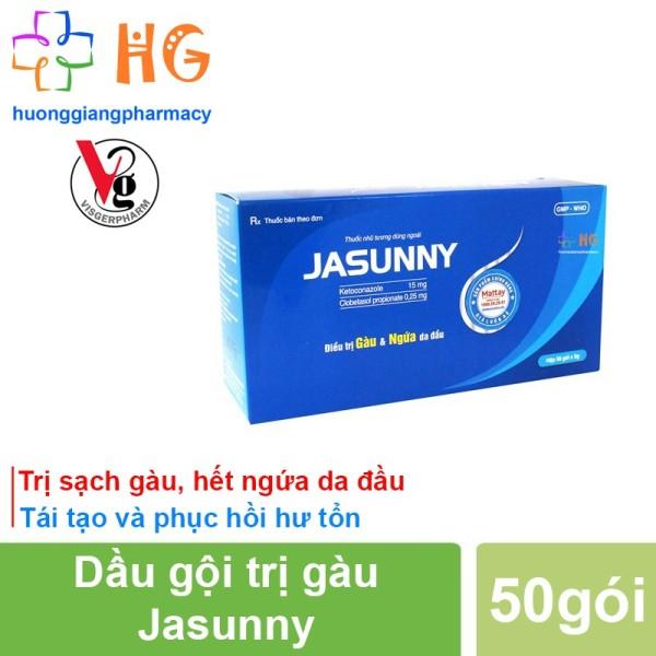 Dầu gội dược liệu Jasunny - Giúp sạch gàu, hết ngứa, tái tạo và phục hồi hư tổn (Hộp 50 gói) giá rẻ