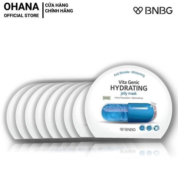 Combo 10 Mặt Nạ Giấy BNBG Hydrating Giúp Dưỡng Ẩm Da Mềm Mượt, Căng Bóng BNBG Vita Genic Hydrating Jelly Mask 30ml x10 (Xanh Dương)