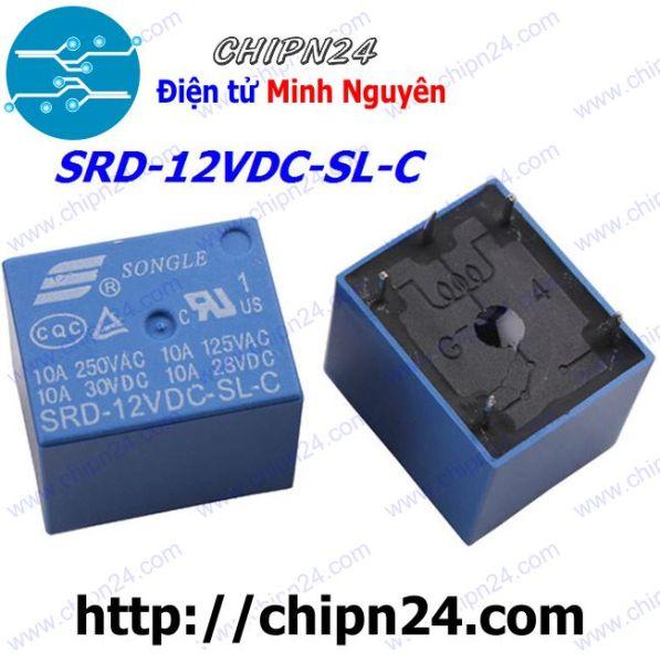 Bảng giá [Nhập ELJAN11 giảm 10%, tối đa 200k, đơn từ 99k][2 CÁI] RELAY 5 CHÂN 12V-10A SRD-12VDC-SL-C (5P12V10A)