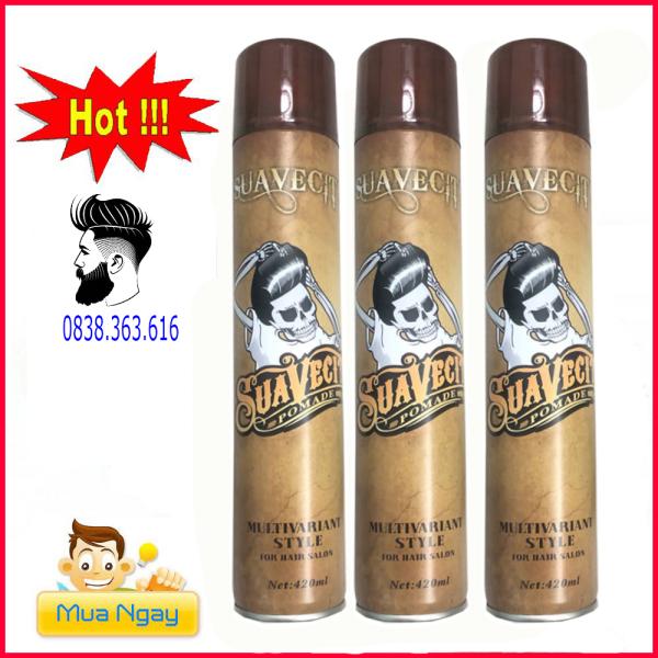 [xả hàng] combo 3 gôm xịt tóc suavecsito 420ml hàng chuẩn salon chuẩn công ty dành cho mọi loại tóc cả nam và nữ giá rẻ