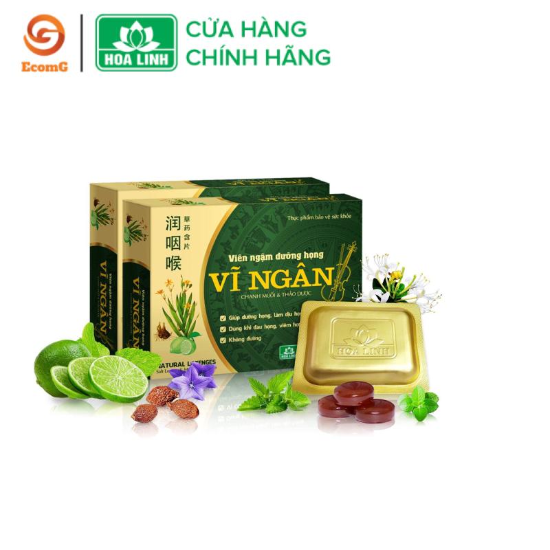 Viên ngậm dưỡng họng, thảo dược, tiêu viêm Vĩ Ngân - Hộp 10 viên - VN1-03 giá rẻ