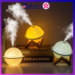 Máy phun sương mini tạo ẩm Kiêm máy xông tinh dầu, khuếch tán tinh dầu tạo độ ẩm kết hợp làm Đèn Ngủ, có đèn Led nhiều màu dùng sạc USB, phun sương tạo ẩm lọc không khí - TAKORA thumbnail