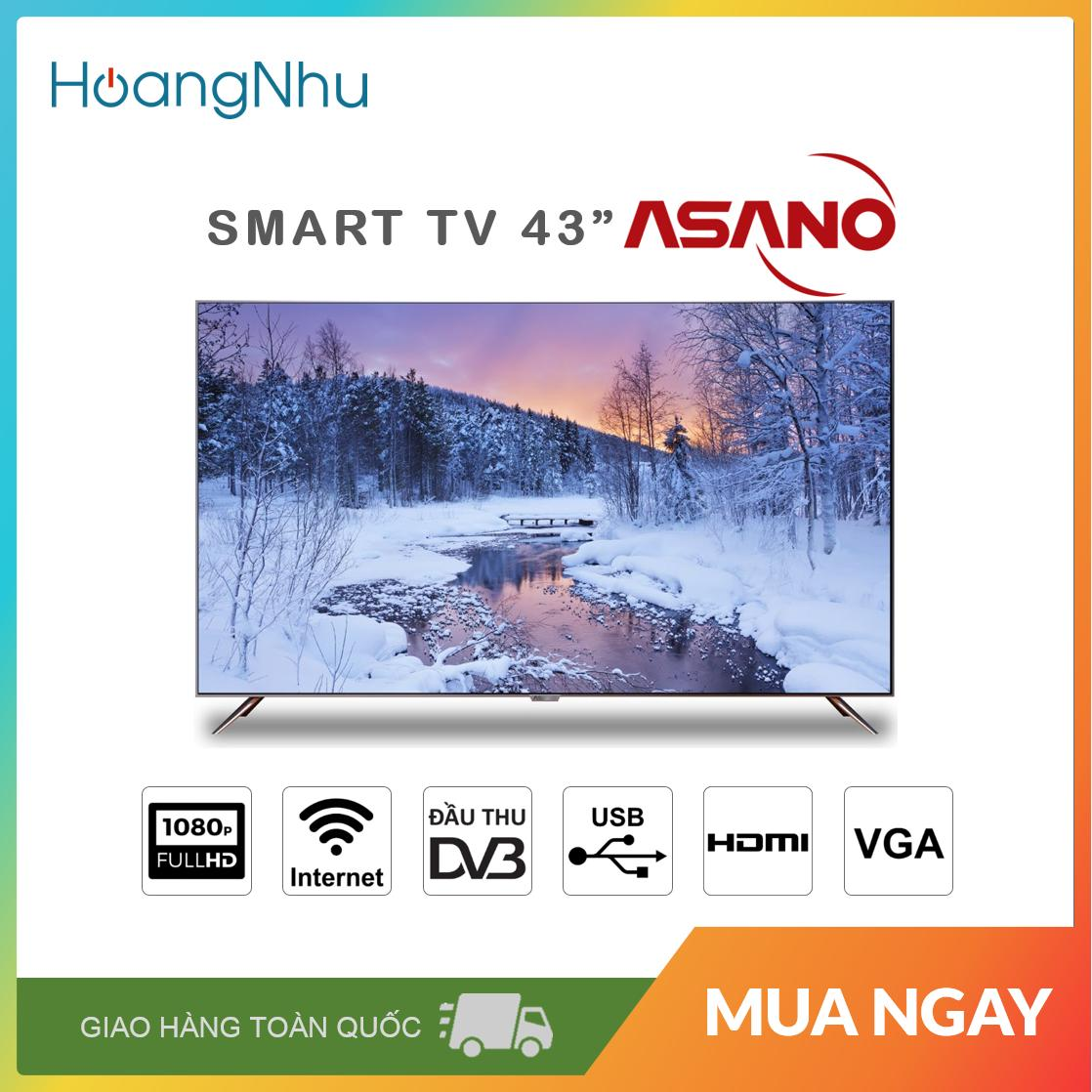 Bảng giá Smart TV Asano 43 inch 43EK3 (Full HD, Hệ điều hành Android, Wifi, truyền hình KTS) - Bảo hành toàn quốc 2 năm