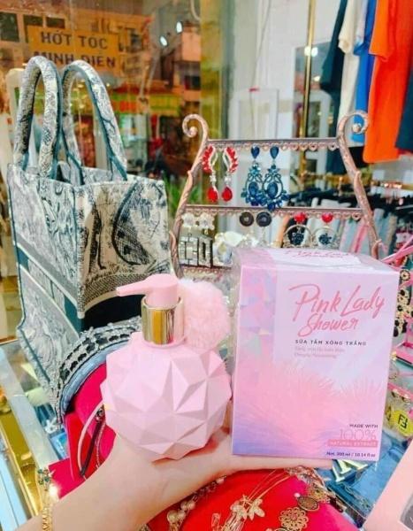 Sữa Tắm Xông Trắng Pink Lady 300ml - Chính hãng công ty