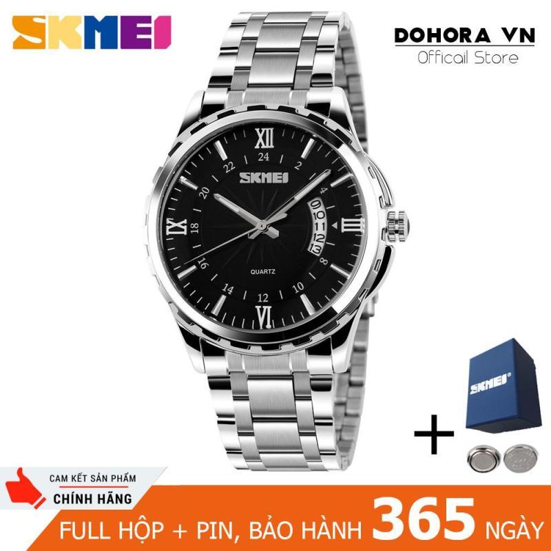 Đồng hồ nam Skmei 9069 có lịch ngày chống nước 30m dây thép không gỉ cao cấp