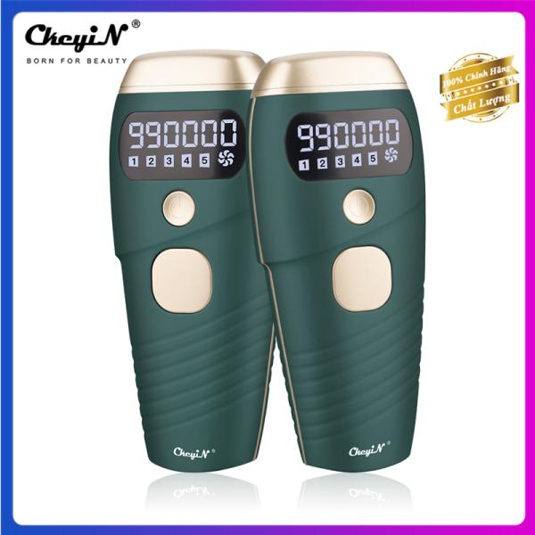 CkeyiN Máy triệt lông vĩnh viễn IPL không đau 990000 xung điện với 5 mức năng lượng hiệu quả tốt tẩy lông bikini, chân, nách, cánh tay, đùi cho phụ nữ và nam giới MT101