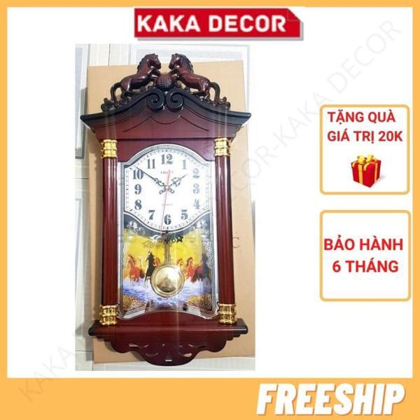 Nơi bán [Freeship+Quà 20k] Đồng hồ treo tường quả lắc đẹp vừa cổ điển vừa hiện đại giá rẻ KaKa Decor