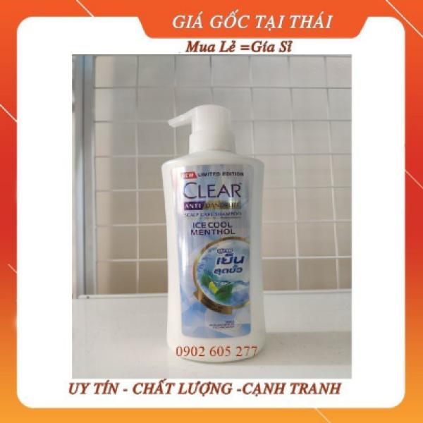 Dầu gội Clear Ice Cool Menthol 450ml (xanh nhạt), Dầu gội Thái Lan Clear Ice Cool Menthol bạc hà mát rượi, Dầu Gội Đầu Thái Lan giá rẻ