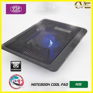 ĐẾ LAPTOP COOLER N19, thiết kế trên bề mặt có rãnh để gió dễ dàng thoát ra ngoài tốc độ quạt mạnh giúp tản nhiệt nhanh cho máy 6