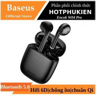 Tai nghe bluetooth thông minh chống nước hiệu Baseus Encock W04 W04 Pro trang bị Bluetooth 5.0, âm thanh Hifi 6D, khả năng chống ồn hiệu quả, sạc không dây chuẩn Qi (Bảo hành 03 tháng 1 đổi 1 )- phân phối bởi HotPhuKien thumbnail