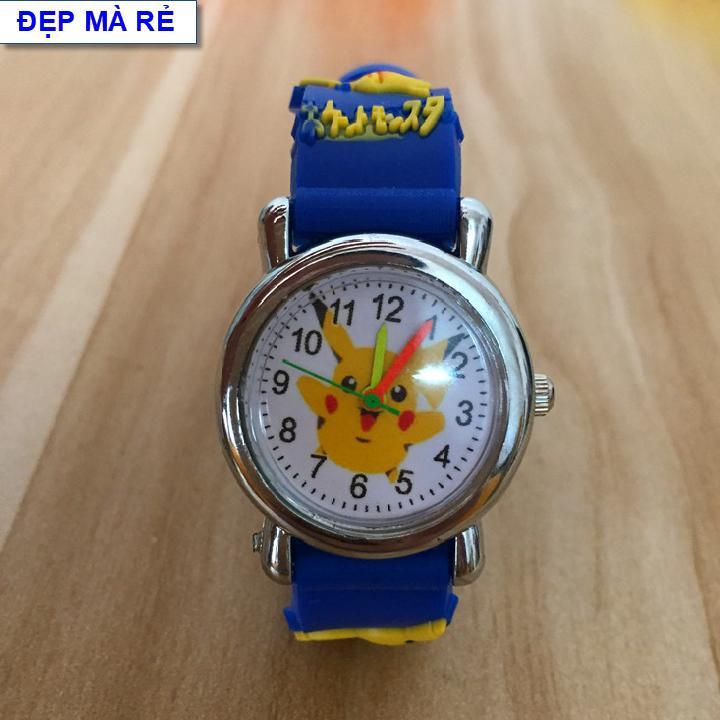 Giá bán Đồng hồ Bé Gái Đẹp Mà Rẻ họa tiết Pokemon 3D - DH2019100012020039