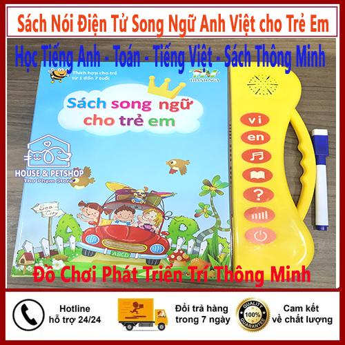 [HCM]Sách Nói Điện Tử Song Ngữ Anh Việt cho Trẻ Em - Học Tiếng Anh - Toán - Tiếng Việt - Sách Thông Minh - Đồ Chơi Phát Triển Trí Thông Minh