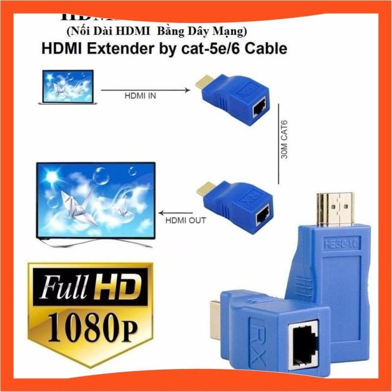 Bảng giá [Loại 1] Bộ chuyển đổi HDMI to Lan 30m cao cấp Phong Vũ