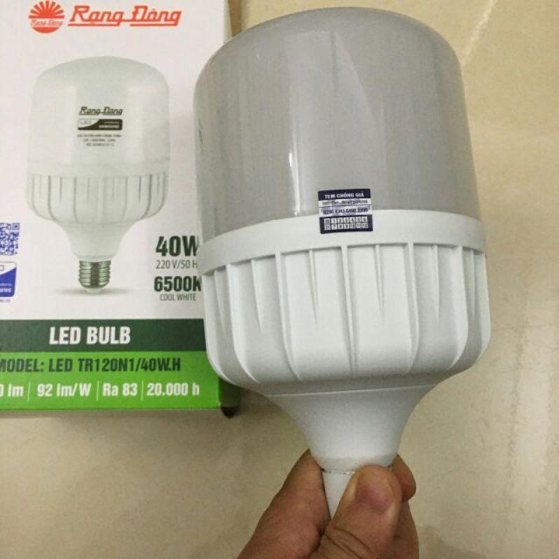 Bóng đèn LED TRỤ 40W RẠNG ĐÔNG Siêu Sáng TR120N1/40W ánh sáng trắng