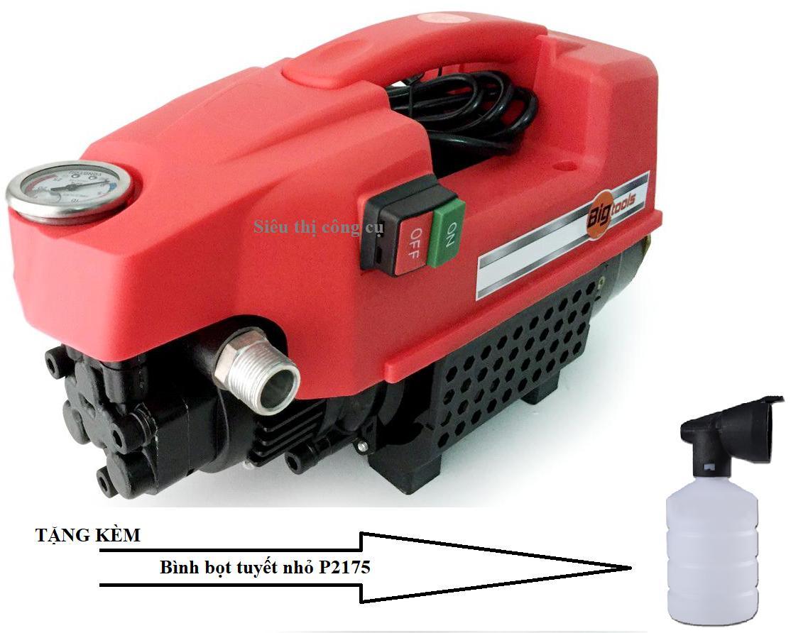 Máy xịt rửa xe gia đình BigTools E1-1800W ( Tặng kèm Bình bọt tuyết P2175)