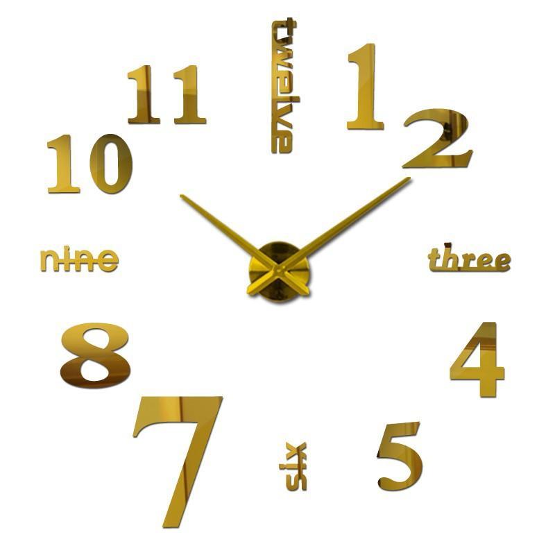 Đồng hồ trang trí treo tường - gắn tường sáng tạo kích thước lớn 3D DH01-B Decoshop68 giá tốt
