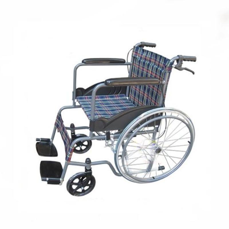Xe lăn thường vải kẻ Lucass X75 dành cho người khuyết tật, người già, người bệnh