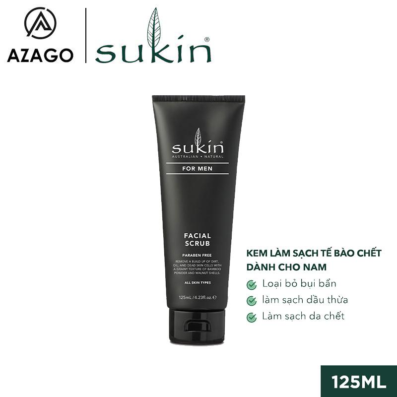 Kem Làm Sạch Tế Bào Chết Dành Cho Nam Sukin For Men Facial Scrub 125ml SU41AZ - SUKINVN - AZAGO giá rẻ