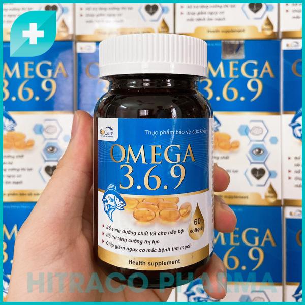 Viên dầu cá Omega 3 6 9 Hộp 60 viên - Tăng trí nhớ, Tăng cường thị lực, Khỏe mạnh tim mạch cao cấp