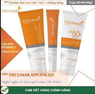 [NEW] Combo sạch mụn DECUMAR ADVANCED [Gel rửa mặt kiềm nhờn, gel ngừa mụn, kem chống nắng] (Decuma, advance) thumbnail