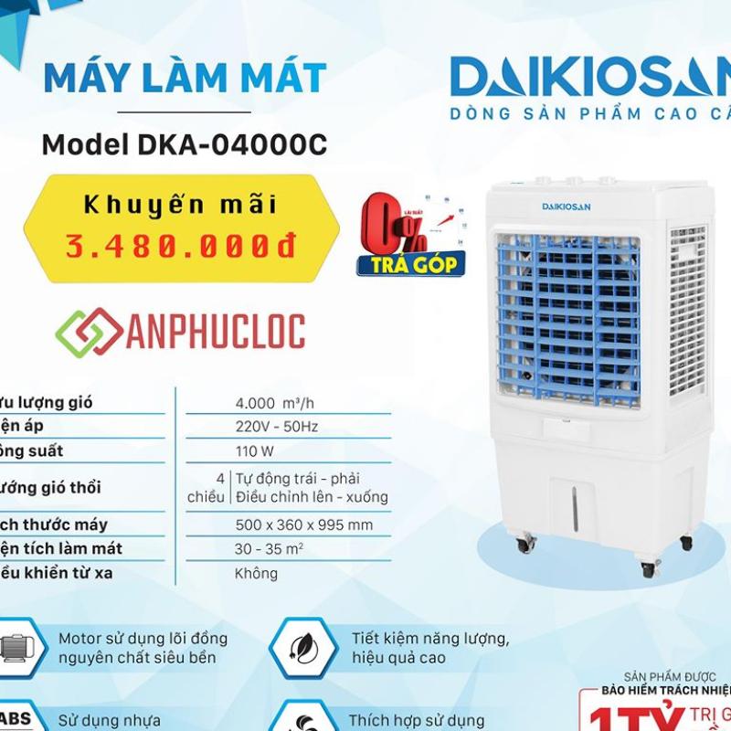 Quạt điều hoà Daikiosan DKA-04000C