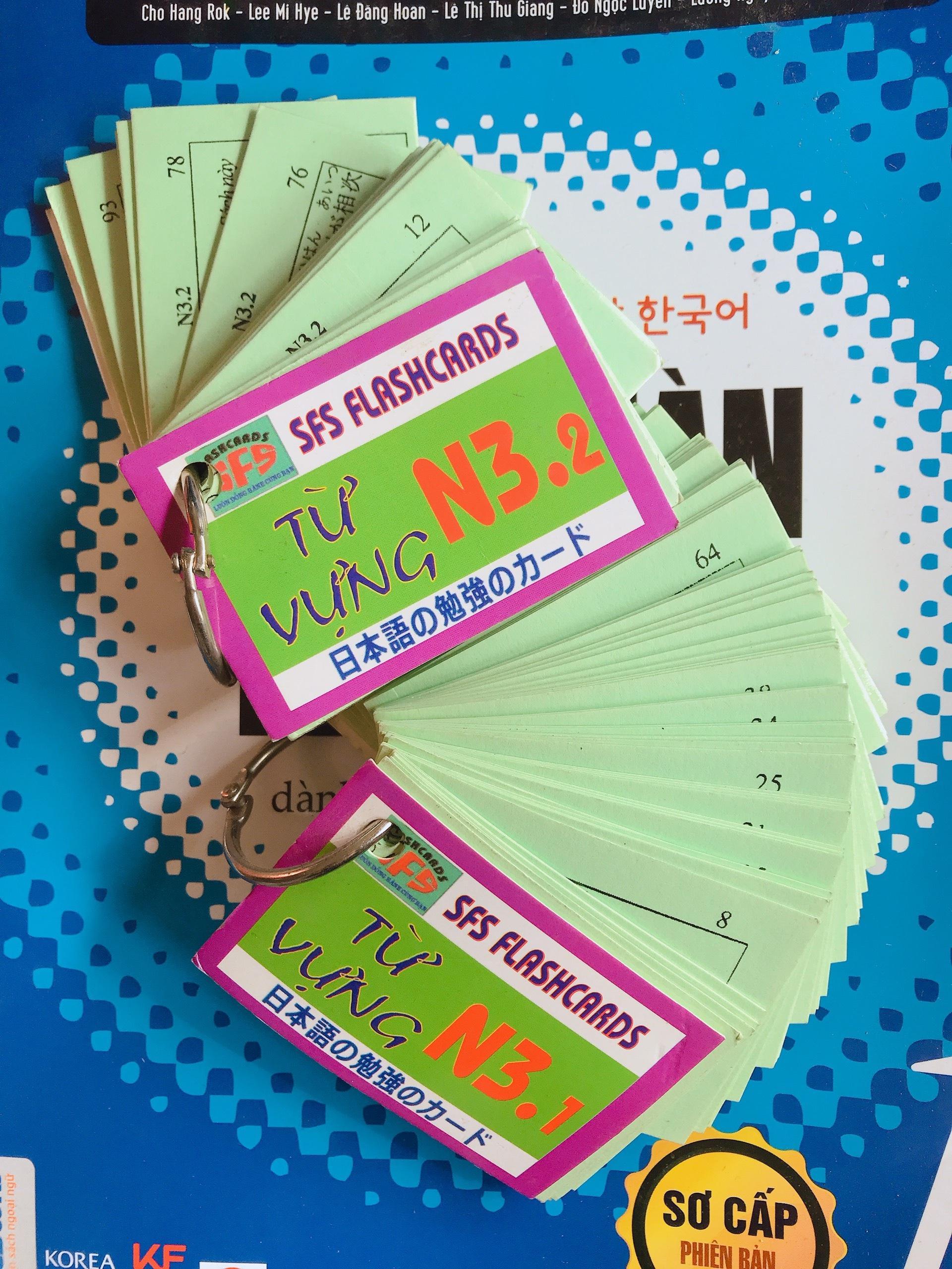 Thẻ Học Từ Vựng Tiếng Nhật N3 2 Xấp Có Giá Tốt